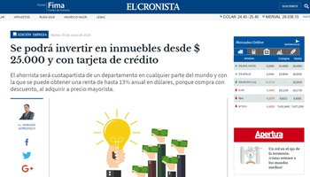 """Crowdfunding is the Keyword"" - Bricksave Featured in El Cronista"