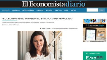 "El Economista spoke with Sofia Gancedo - ""Real Esate Crowdfunding is underdeveloped"""