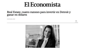 "Bricksave in El Economista ""Real Estate: 4 Reason to Invest in Detroit and Earn Returns in USD"""