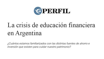 The Financial Education Crisis in Argentina