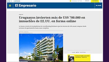 Uruguayans invest more than US $ 700,000 in US real estate online