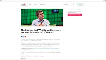 The industry that Web Summit investors are most interested in? It's fintech