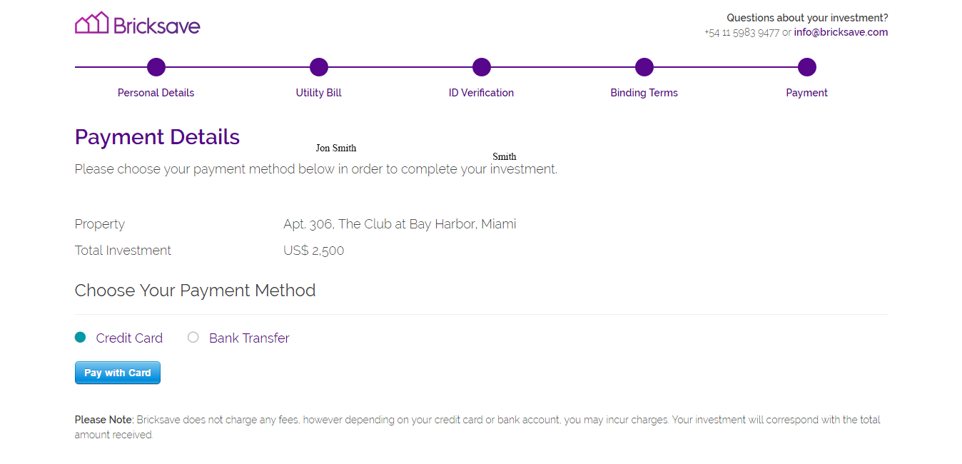 Website checkout process