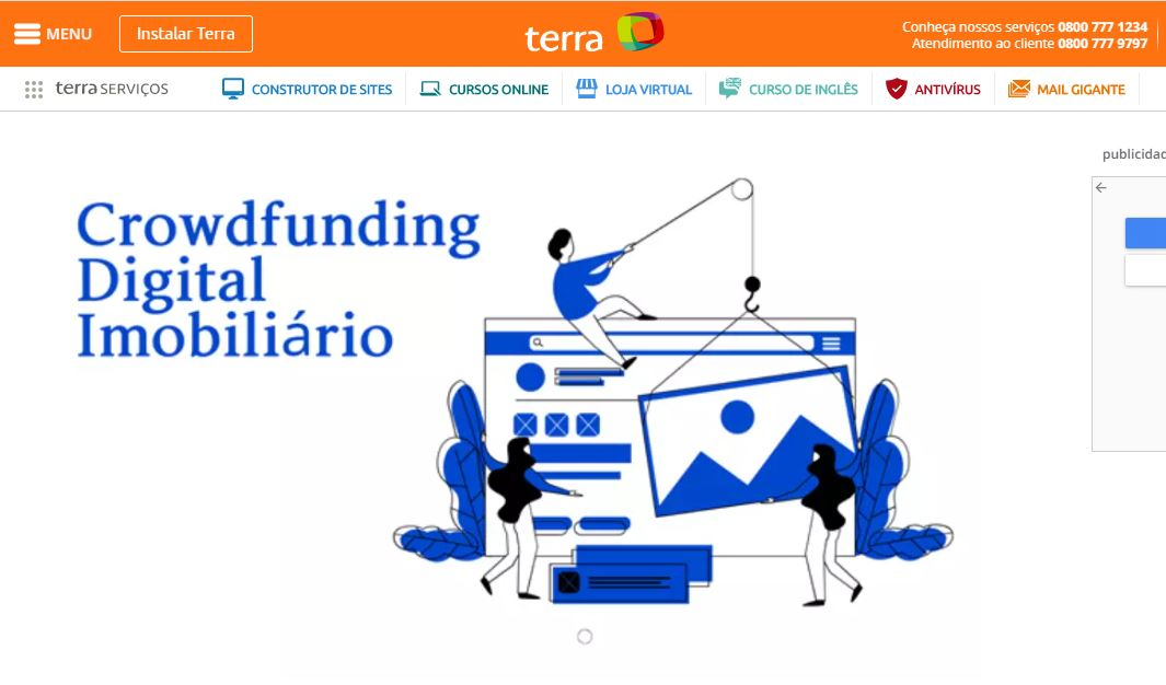 Terra article about Crowdfunding